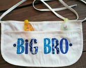Big Brother Appliqued Apron/ Big Bro Gift/ Unique Baby Shower Gift