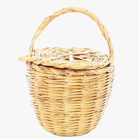 Panier en osier avec couvercle birkin basket jane birkin - Panier en osier avec couvercle ...