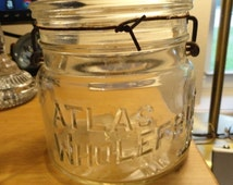 B395)  Vintage Atlas Whole Fruit Jar 2 cup size