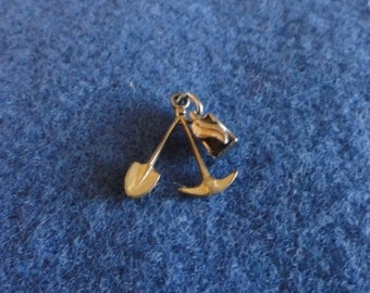 C151)  Vintage Coal Miners Charm rare find