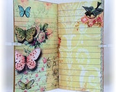 Traveler's Notebook Insert and Dashboard Set, Bird & Butterfly Design