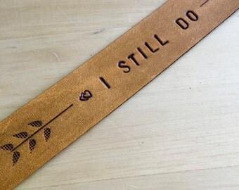 Third Anniversary Bookmark I Still Do Love Bookmark Heart Bookmark Book Lover 3rd Anniversary Gift Leather Anniversary