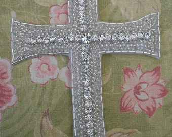 Rhinestone Beaded Cross