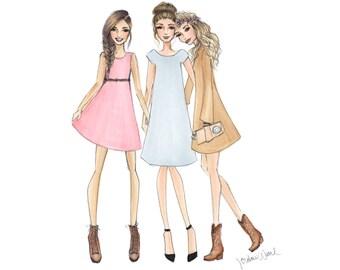 Linen Dress, Linen Bridesmaid Dress, Cotton and Lace Dress, Tunic, Shift Dress, Country Girl, Mod Style Dress, Beatnik, Bohemian