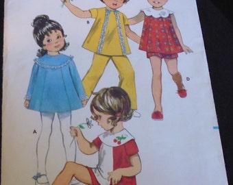 Butterick 5521 toddler dress, pants, shorts pattern, breast 22, toddler shorts, toddler pants, toddler separates, toddler waist 20 1/2