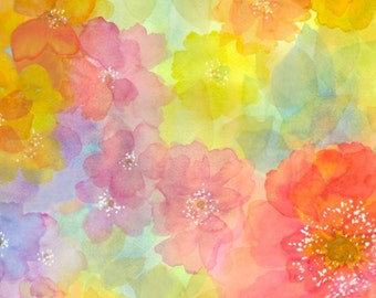 Quilting Treasures - Sun Kissed - Watercolor Floral