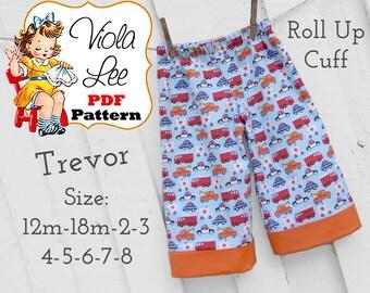 Trevor Boy's Sewing Pattern, pdf Sewing Patterns , Shorts Sewing Pattern, Beach Shorts Pattern, INSTANT DOWNLOAD. Toddler Sewing Pattern