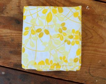 Yellow Vintage Pillowcase Set Retro Floral Cotton Polyester Standard Size