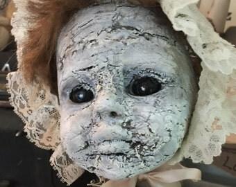 Misfit art doll little lady Ooak art doll assemblage