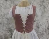 Pink Rose Renaissance Costume-Halloween Costume-Medieval Skirt-LARP-Ren Fair-Steampunk-SCA-Adult Costume-Fantasy Skirt-Item #251