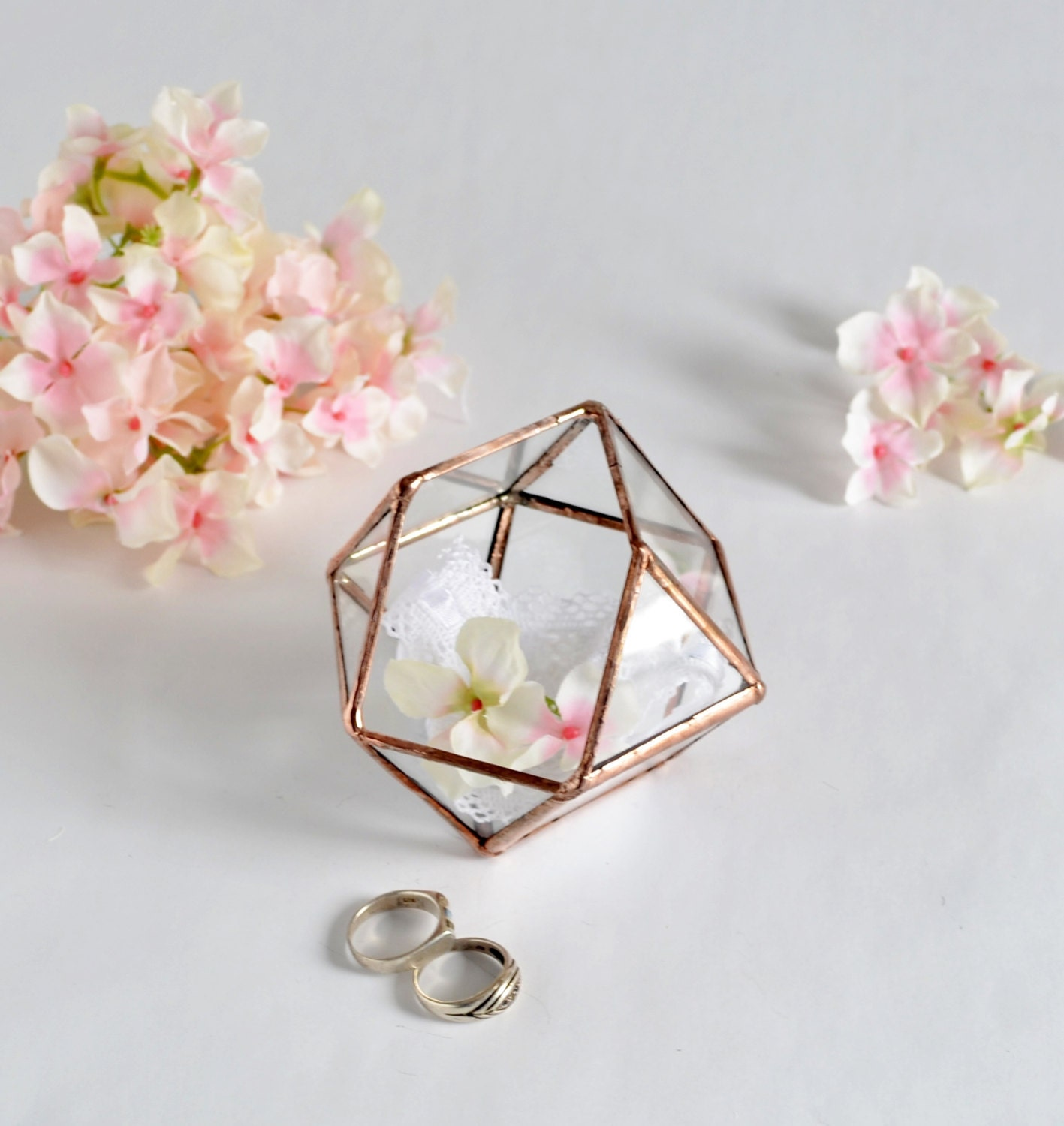 Glass Wedding Gift Box : Wedding Gift Wedding Ring Box Glass Terrarium by jacquiesummer