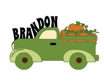 SVG - Pumpkin Truck with Text - DXF - EPS - Halloween - Fall - Boys - Shirt Design - Pumpkin - Truck - Fall Tshirt - Pumpkin Picking