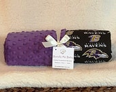 Baltimore Ravens Baby Blanket PERSONALIZED Minky Toddler Gift Football Baltimore Ravens Tampa Bay Buccaneers Miami Dolphins
