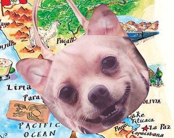 Chihuahua bag, shoulder bag, tote bag, dog bag, pet bag, dog print tote, animal bag, D035