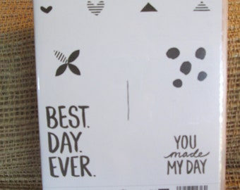 BEST DAY EVER Wood - Stampin' Up retired - Stamp Set