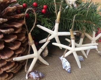 Starfish Christmas Ornaments, Nautical Starfish Ornament, Beach Christmas Ornament, Coastal Christmas Ornaments, Sea Star Ornament