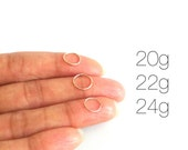 Thin Rose Gold Nose Ring Hoop 20g 22g or 24g, Rose Gold Septum Nose Ring, Tragus Ring, Cartilage Hoop, Helix Hoop, Lip Ring