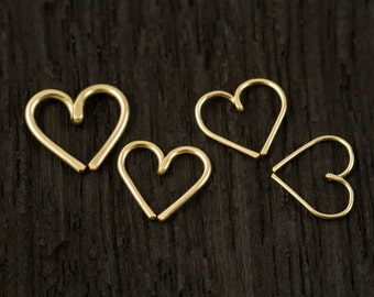 14k Gold filled Love Heart Cartilage / Rook / daith / Tragus / Snug / Helix / Forward Helix earring