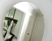 Vintage Round Frameless Mirror Beveled