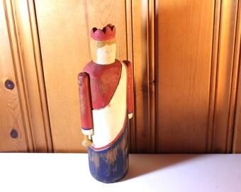 SUMMER SWOON SALE Patriotic Figurine Vintage Wolf Creek Primitive Folk Art Americana