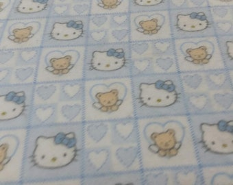 Hello Kitty Flannel Fabric by the yard