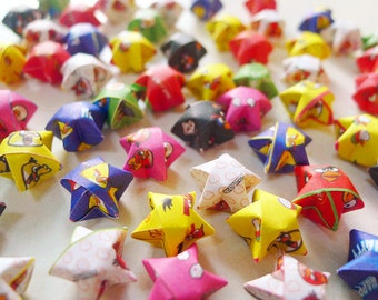 Cute Cartoon Origami Lucky Stars-Wishing Stars/Table Decor/Gift Fillers/Party Supply/Baby Shower