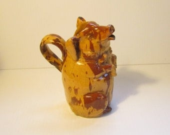 Antique Yellow Ware Pig Pitcher