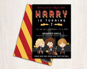 Magic School Invitation - Magic Harry Invite - potter birthday party supplies
