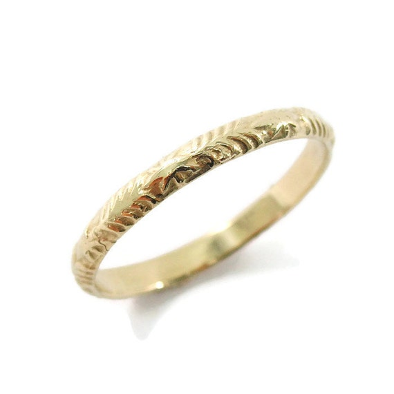 Moroccan Wedding Ring Tribal Ethnic Gold Delicate