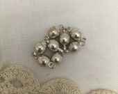 8 silver metal round magnet clasp Size is 7 mm round and 13 mm long with link.