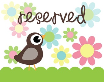 RESERVED Listing for Darcy