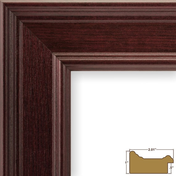 Craig Frames, 8.5x11 Inch Mahogany Red Picture Frame Set ...