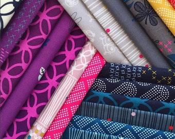 Macrame - Half Yard Bundle of 19 Cotton prints - Rashida Coleman-Hale for Cotton + Steel - MACRAME-HY