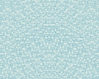 Paper Obsessed - Time to Write in Cerulean - Heather Givans for Windham Fabrics - 41688-11 - 1/2 Yard