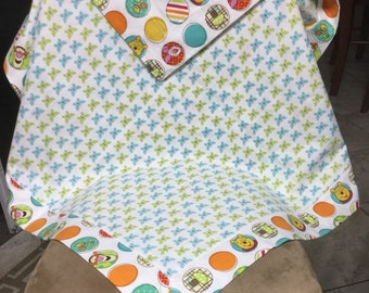 Self binding pooh and friends baby blanket.