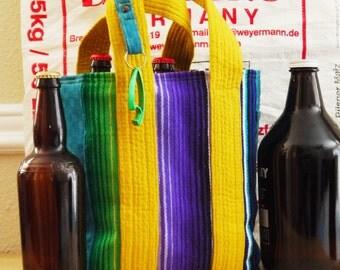 Beer, Craft Beer Bag, Growler Beer Carrier, Beer Growler Carrier, Wine Carrier, Six Pack Carrier, 6 pack carrier, Gift for Men
