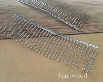 10Pcs  37mmx110mm (30teeth) white K Iron Hair Combs