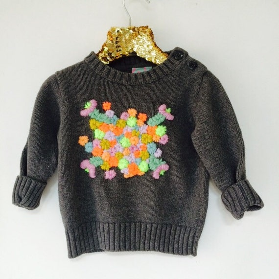 STITCH 2-3 Years Childrens Kids Jumper Top Sweater Embroidered Unisex