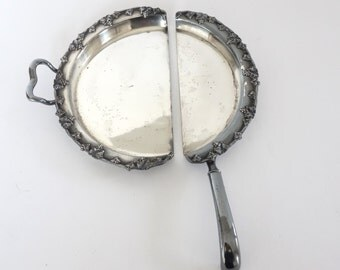 Silver Plate Crumb Tray and Knife Antique Silent Butler FBR Sheffield
