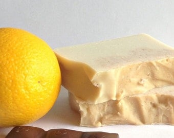 Chocolate Orange Slices Cold Process Soap - Christmas Soap - Secret Santa Gift - Scented Soap Gift