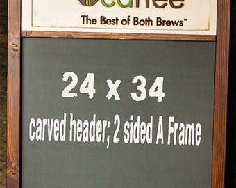 Custom Sidewalk Chalkboards