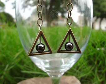 Deathly Hollows Inspired Earrings