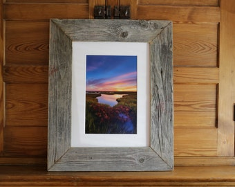"Succulent Splendor: 8x12"" print framed in reclaimed wood"