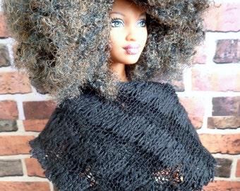 Triangle Knit Scarf for Barbie or similar fashion doll