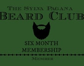 Beard Club - of the month - 6 MONTH long mens gift for him - natural organic beard oil wash beard care hair care grooming