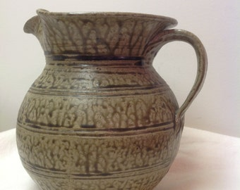 Signed Pottery Pitcher by Billy Hussey