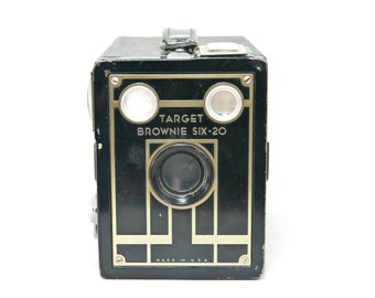 Vintage Target Brownie Six 20 Camera, Vintage Art Deco Brownie Camera