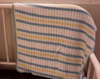 Blue & Yellow Baby Blanket