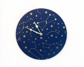 Wall Clock, Constellation Wall Art, Astrology, Astronomy, Home and Living, Home Decor, Decor & Housewares