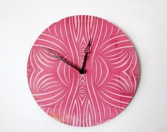 CIJ Sale, Wall Clock, Retro Wall Clock,  Pink Clock, Home and Living,  Decor & Housewares,  Birthday Gift,  Housewarming Gift